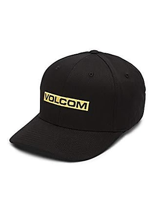 cadf802504455b Volcom Mens Euro Mark Six Panel Xfit Hat, Black, Large/Extra Large