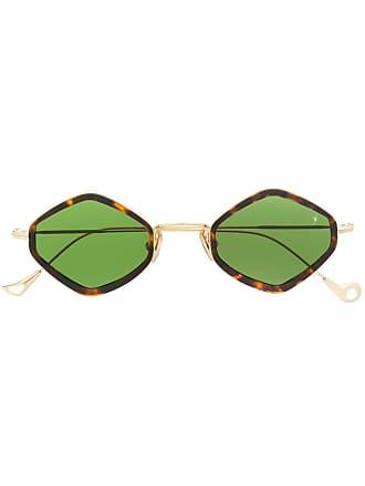 Eyepetizer Óculos de sol hexagonal - Marrom