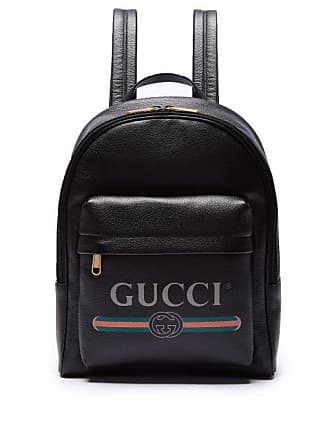 02af311e451acf Gucci Logo Printed Leather Backpack - Mens - Black