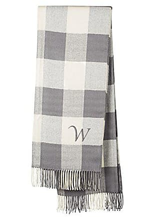Cathy's Concepts Personalized Grey Buffalo Check Throw