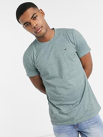 Hollister T-Shirt mit Rundhalsausschnitt und Möwen-Logo, in Hellgrün meliert