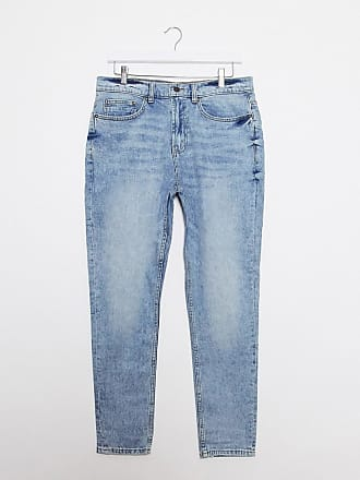 Burton Menswear carrot fit jeans in light blue wash