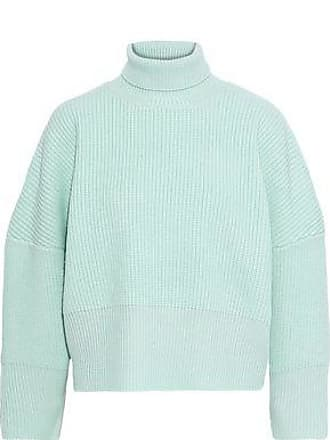 54990a8ddc400 Paper London Paper London Woman Celilia Ribbed Wool Turtleneck Sweater Mint  Size XL