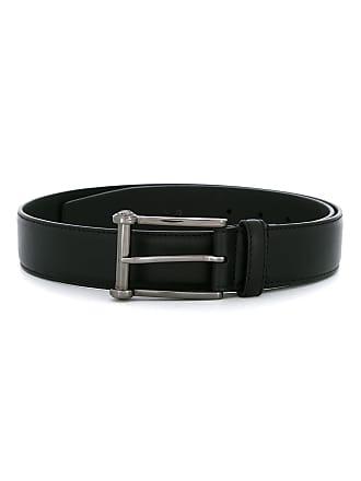 Versace classic square buckle belt - Black
