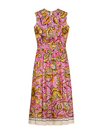 Gucci Abito in seta con stampa floreale 26fd7223ddd