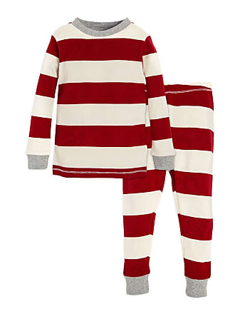 Burt s Bees Baby Rugby Stripe Organic 2-piece Baby Holiday Matching Pajamas  Cranberry 12 Months 1de10bdf7