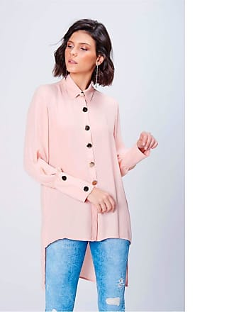 Damyller Camisa Longa Feminina Tam: G/Cor: ROSE