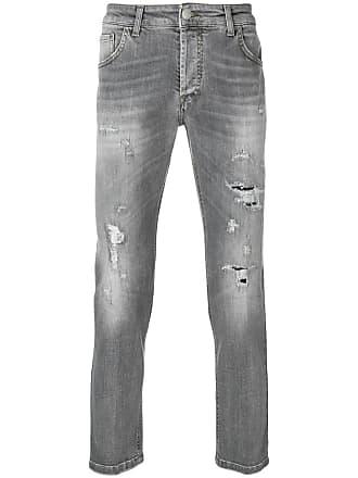 Entre Amis distressed slim fit jeans - Cinza