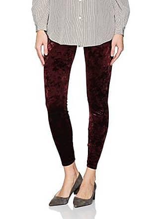 Lyssé Womens Crushed Velvet Legging, Currant, L