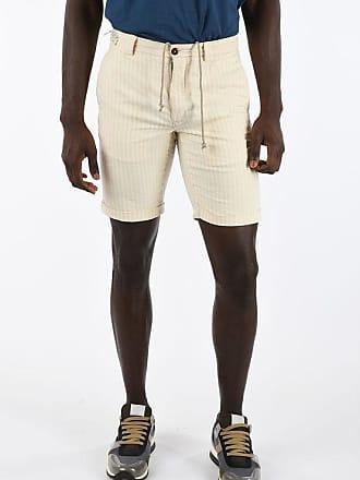 Incotex Cotton and Linen Striped Bermuda size 31
