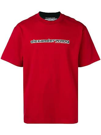 Alexander Wang Camiseta com logo - Vermelho