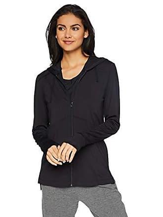 Natori Womens Jersey Zip-Up Jacket, Black L