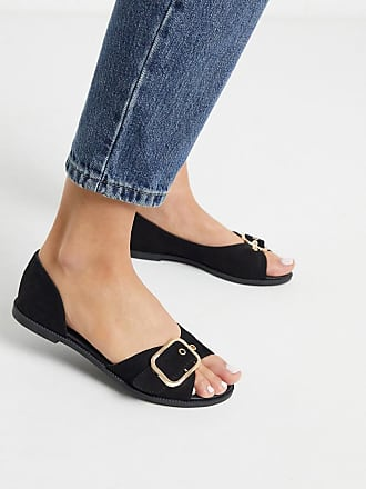 Qupid Qupid summer flat shoes in black