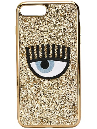 Chiara Ferragni Capa para celular bordada Eye - Dourado