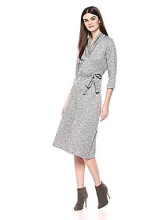 3d79dce8fe4 Chaus Womens 3 4 SLV Tie Waist 2-Tone Terry Dress