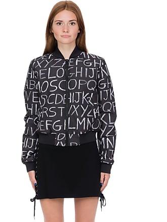 Love Moschino Alphabet Graffiti Bomber Jacket - Black/White