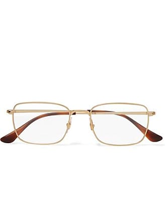 Ray-Ban Square-frame Gold-tone Optical Glasses