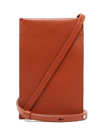 Aesther Ekme Leather Iphone Case Cross Body Bag - Womens - Orange