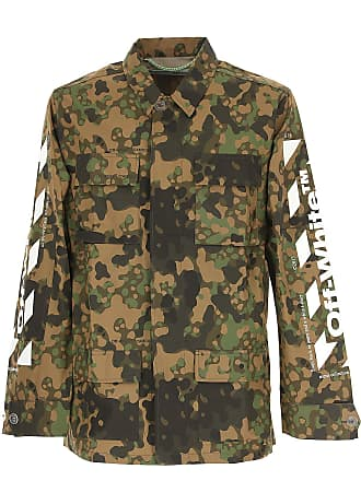Off-white Jacket for Men On Sale, camouflage, Nylon, 2017, M