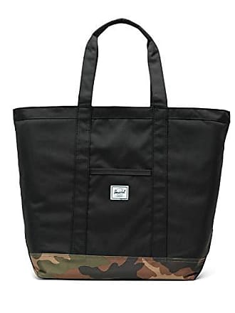 Herschel Bamfield Mid-Volume Shoulder Bag, Black/Woodland Camo, One Size