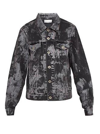 Faith Connexion Metallic Paint Effect Denim Jacket - Mens - Black