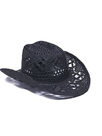 ále by Alessandra Womens Caballera Crochet Toyo Cowboy With Memory Wire Brim, Black, One Size