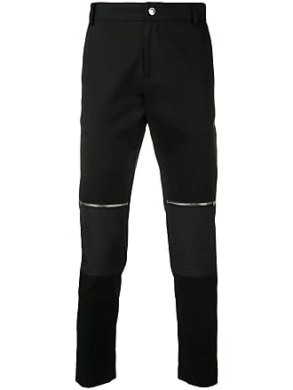 Les Hommes zip knee slim-fit trousers - Preto
