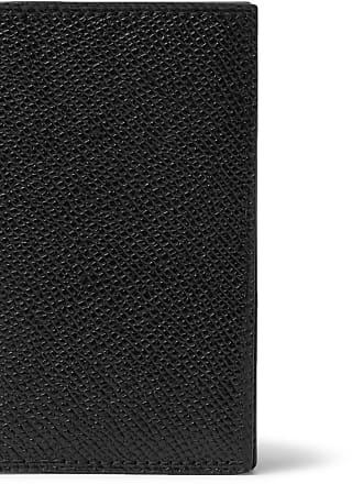 Mark Cross Pebble-grain Leather Billfold Wallet - Black