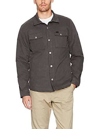 Rvca Mens Officers Shirt Jacket, Pirate Black, Small