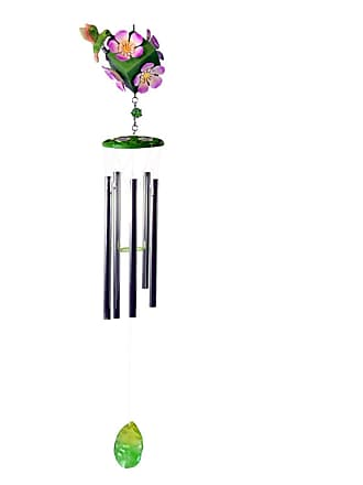 Great World Company Hummingbird 3D Cube Shape Wind Chime - 38501