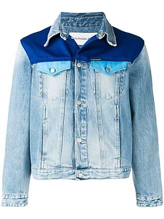 Calvin Klein Jeans contrast panel denim jacket - Blue