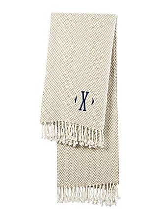 Cathy's Concepts Personalized Herringbone Throw, Taupe
