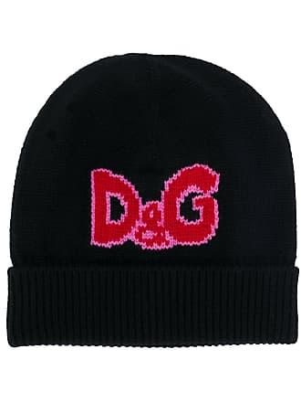 Dolce   Gabbana bonnet en cachemire à logo en intarsia - Noir 5a642d454b8a
