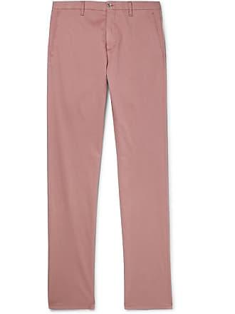 Zanella Noah Slim-fit Garment-dyed Cotton-blend Chinos - Pink