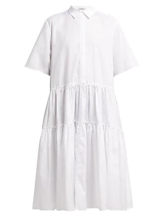 Cecilie Bahnsen Primrose Cotton Shirtdress - Womens - White