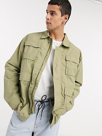 Weekday Nate jacket in khaki-Green