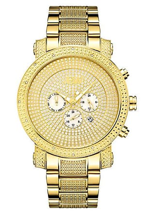 Zales Mens JBW Victor Chronograph 1/6 CT. T.w. Diamond and Crystal Accent 18K Gold Plate Watch (Model: Jb-8102-A)