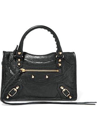 7e025c98fd9f Balenciaga Classic City Mini Textured-leather Tote - Black