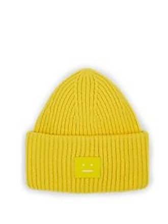 4742d65d16a Acne Studios Mens Pansy Wool Beanie - Yellow