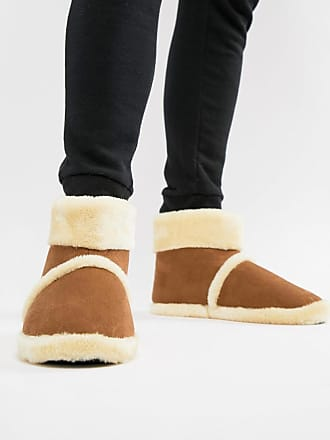 Dunlop Sheepskin Boot Slipper - Tan
