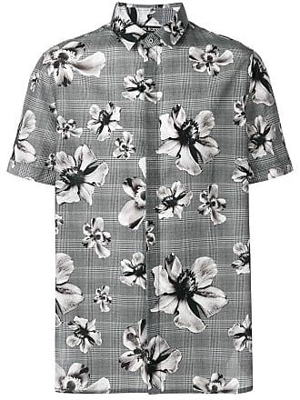 Neil Barrett Camisa com estampa floral - Cinza