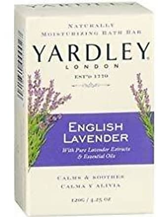 Yardley London Naturally Moisturizing Bath Bar English Lavender 4.25 OZ - Buy Packs and SAVE (Pack of 4)