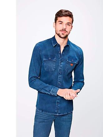 Damyller Camisa em Denim Canelado Masculina Tam: GG/Cor: BLUE