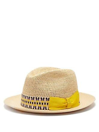 69ab0523302 Borsalino Woven Straw Panama Hat - Mens - Beige