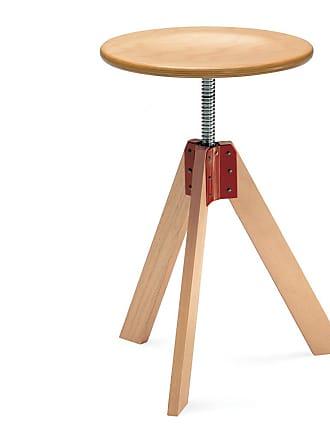 ZANOTTA Design Giotto Adjustable Stool Natural Beech