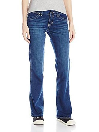 Wrangler Womens Premium Patch Sadie Sits at Hip Boot Cut Jean, Medium Blue, 15x32