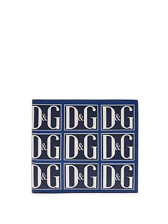 e1b35d2d Dolce & Gabbana Logo Print Leather Bi Fold Wallet - Mens - Navy