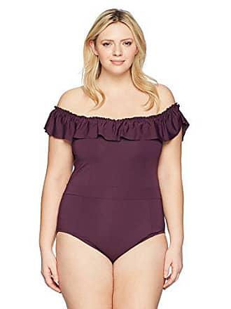 a03451be172 Bleu Rod Beattie Womens Plus Size Lace Down One Piece Swimsuit