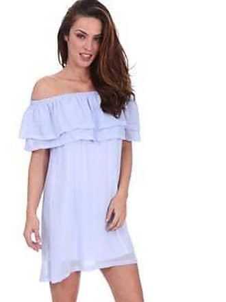 84f614b55 Lola Swimwear Vestido con Olanes en la Parte Superior y Hombro  Descubierto<br> Azul