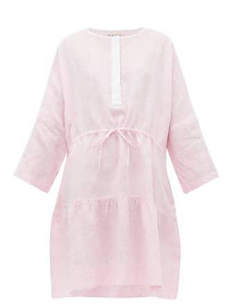 Wiggy Kit Drawstring Linen Dress - Womens - Pink